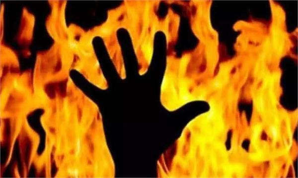 woman fire nawanshahr in law family