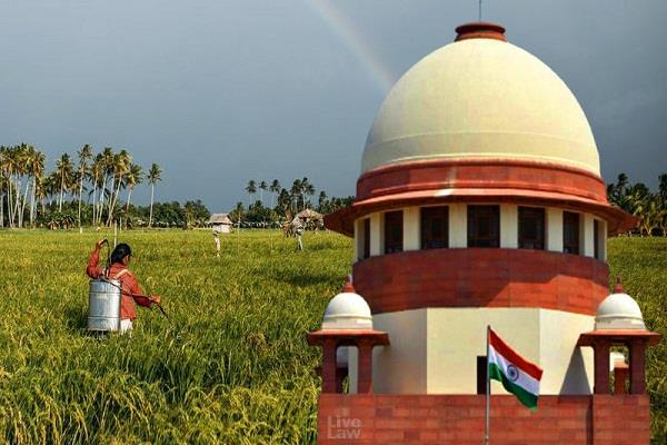 sc issues notice centre the three farm laws passed