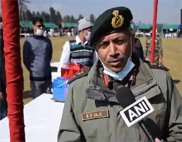 srinagar indian army general bs raju