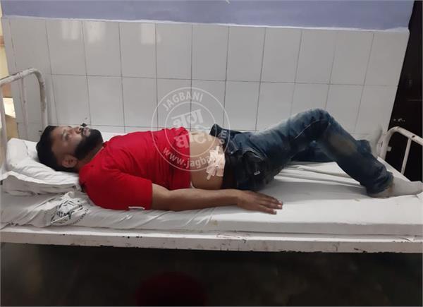 gun fire bhogpur man injured