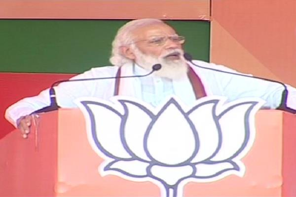 narendra modi muzaffarpur rally address jangal raj