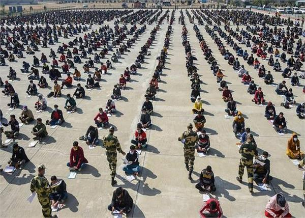 jammu and kashmir ladakh 30 thousand candidates security forces recruitment test