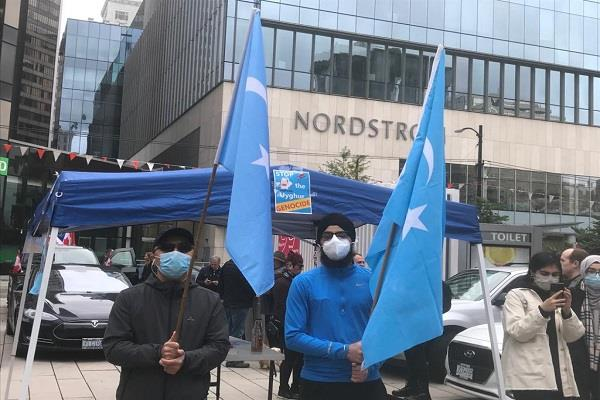 demonstration chinese embassy canada uighur muslims