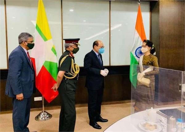 army chief mm narwana harsh vardhan shringla myanmar aung san suu kyi meeting