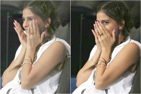 ipl 2020  shahrukh khan  daughter  suhana  stadium  photos viral