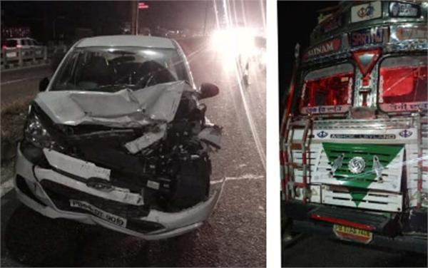road accident flyover pathankot