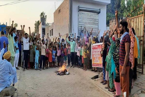protests at various places over the hathras and balmgarh incidents