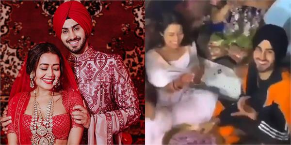 neha kakkar rohanpreet singh viral wedding video