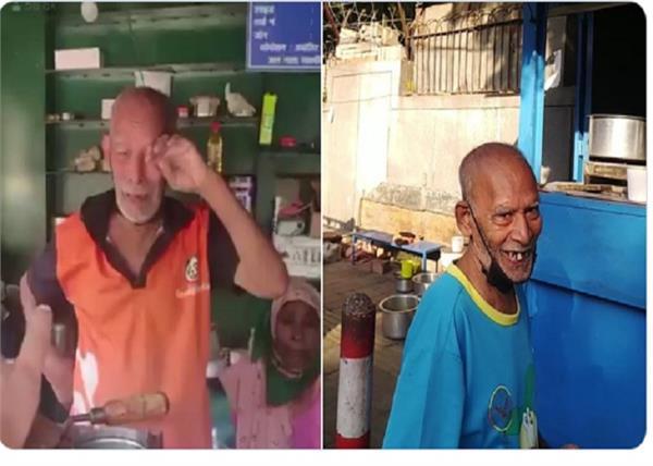 elderly couple video viral babe ka dhaba people line