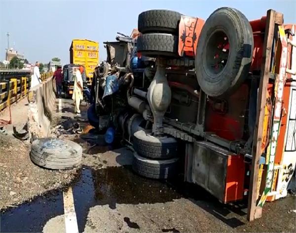 pathankot  oil tanker  road accident