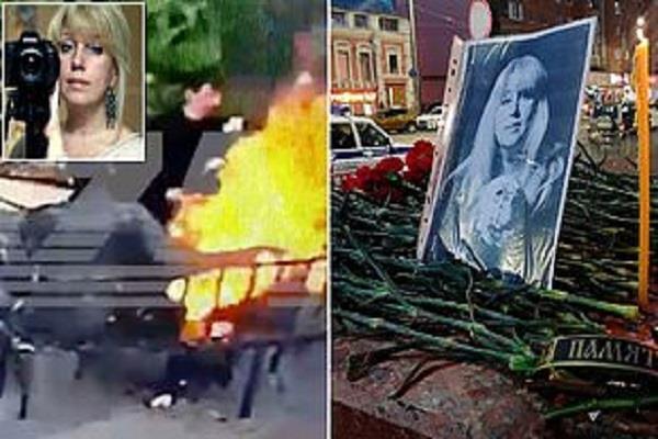 russian woman journalist fire herself