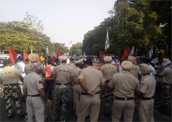 union minister protest jalandhar