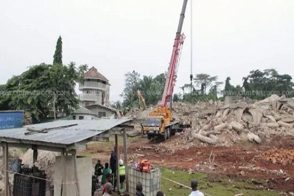 ghana church collapse asene manso