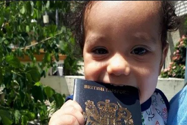 british child  passport