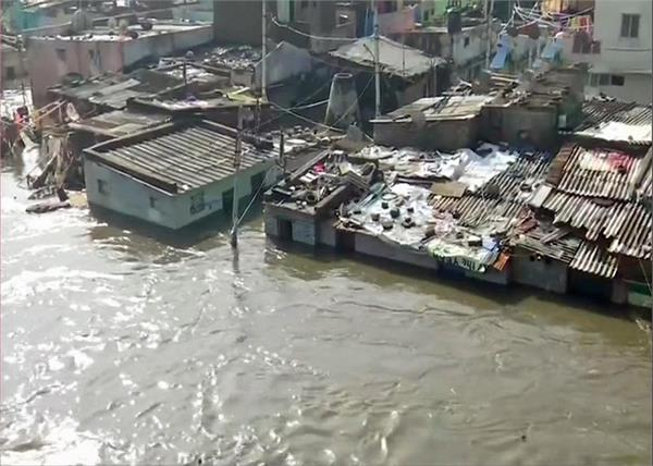 hyderabad in heavy rainfall flood affected