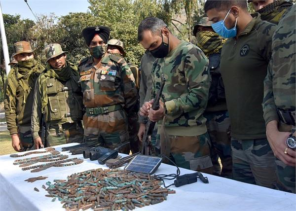 army display arms and ammunition recovered from kalaban forest