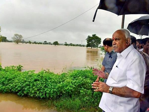 yediyurappa announced compensation for flood victims