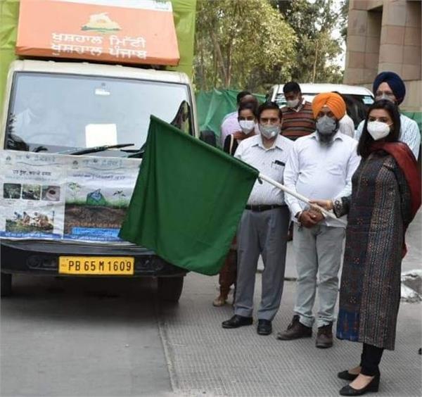 farmer   led equipped awareness van