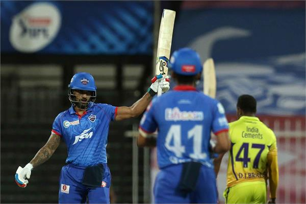 dhawan first century in ipl  this record
