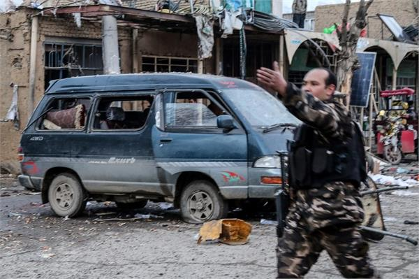 a bomb blast in afghanistan 14 people killed and 45  injured