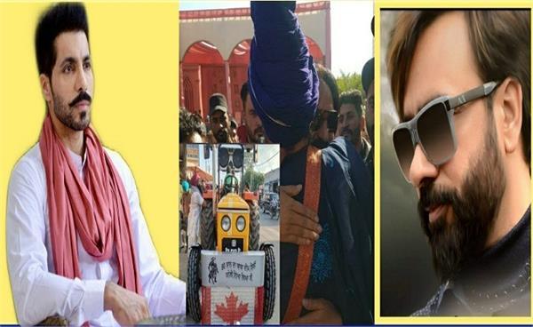 deep sidhu and babbu mann kisan morcha protest