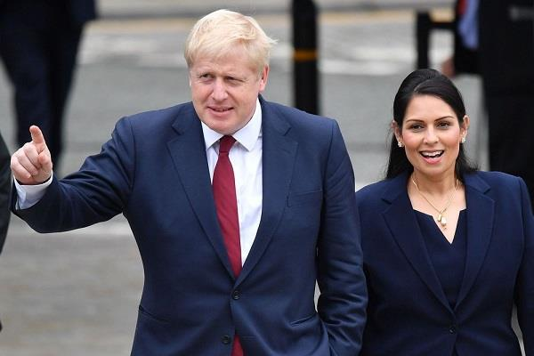 uk pm rescues interior minister priti patel