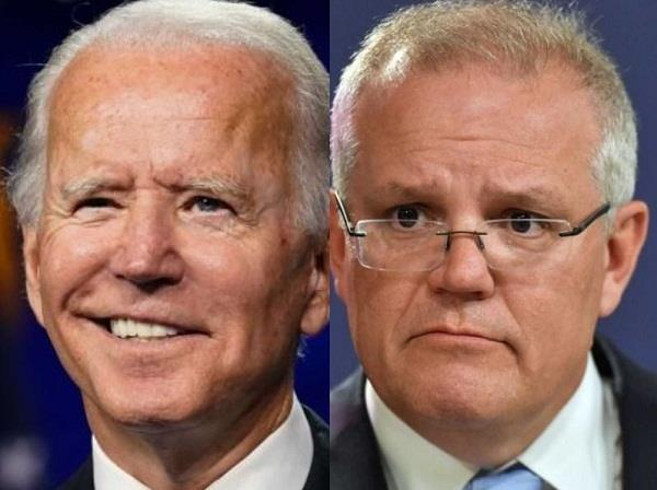 joe biden scott morrison