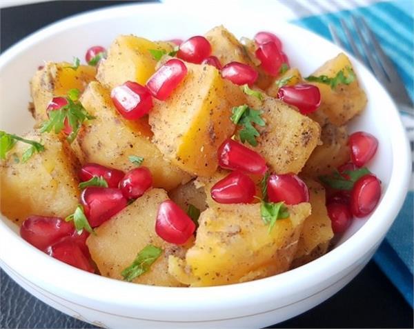 shakarkandi chaat home make taste