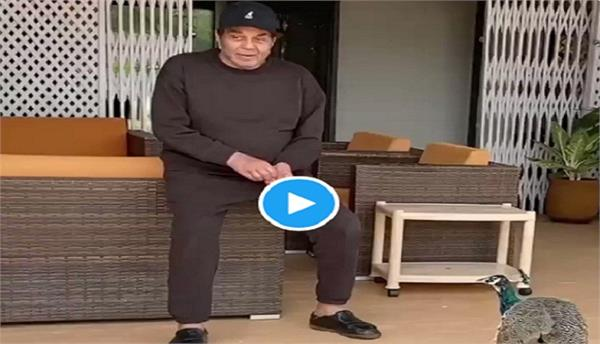 actor dharmendra share video