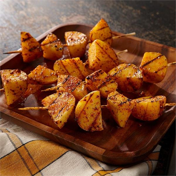 make grilled potato kebabs at home with this method