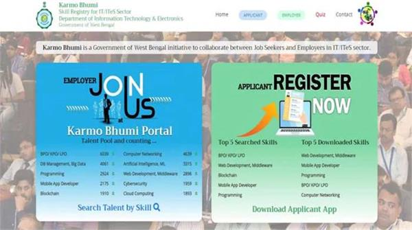 west bengal  karmabhumi app  it professionals  employment