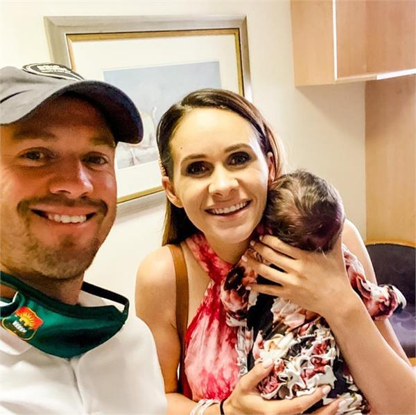ab devilliers father third time picture newborn daughter
