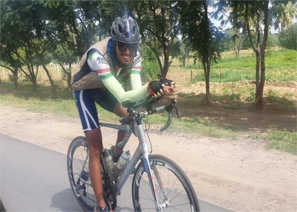 cyclist om of record fastest completion from kashmir to kanyakumari