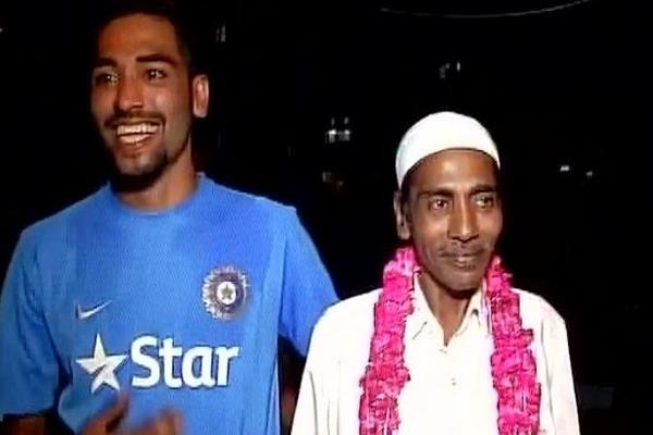 mohammad siraj  father  deceased  bcci  leave