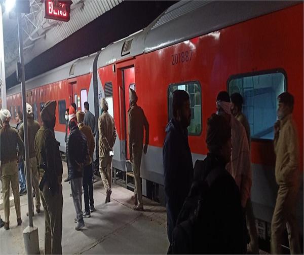 baba bakala sahib  railway station  passenger train  departure