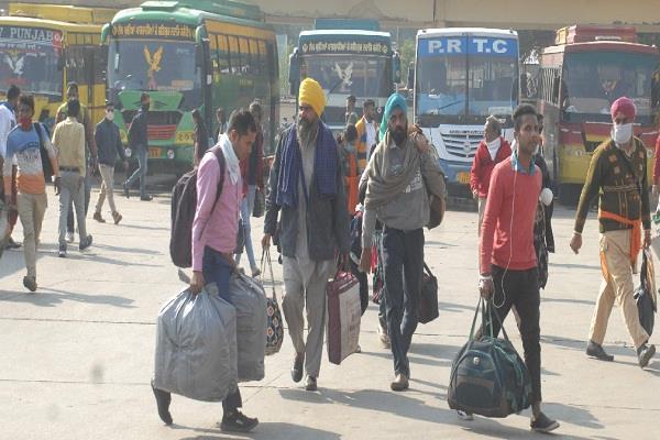 trains closed  punjab roadways launches volvo bus service to delhi