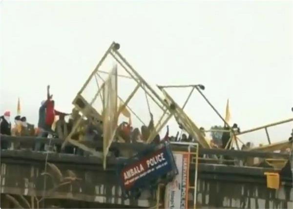 farmers protest continues at shambhu border near ambala