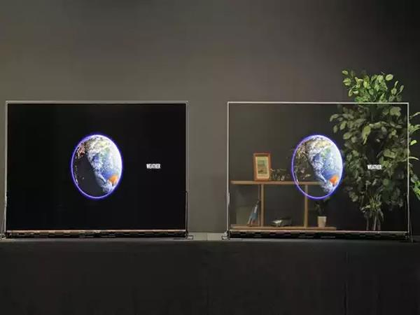 panasonic launched its first transparent oled display