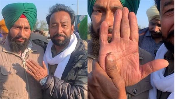 darshan aulakh shared a video of a brave farmer