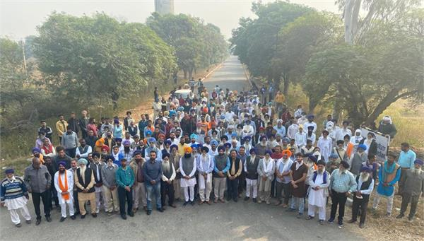 shiromani akali dal workers protest