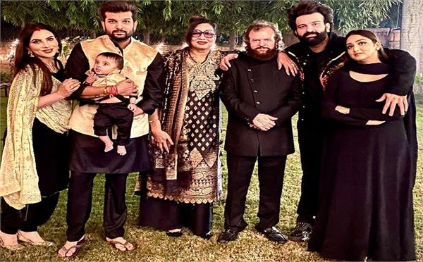 yuvraj mansi celebrated their son hredaan  s first diwali with whole family