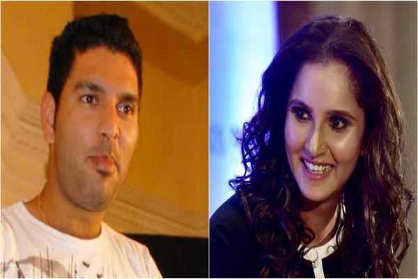 yuvraj singh  sania mirza  happy birthday