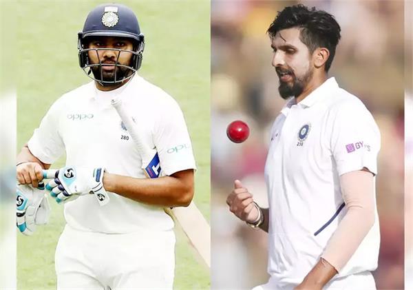 rohit sharma ishant sharma australia test series 2 test matches out