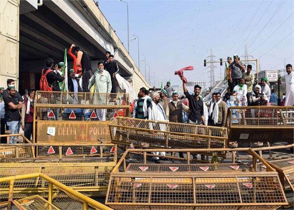 bhartiya kisan union protest against at delhi ghaziabad border