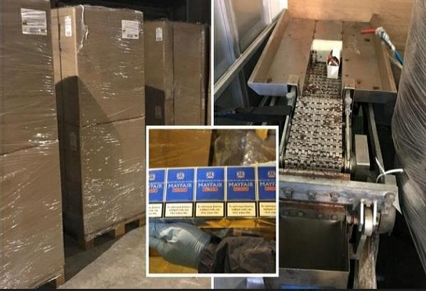 illegal cigarettes seized in glasgow warehouse raid