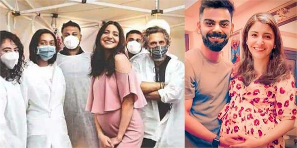 anushka sharma baby bump pics with team on set