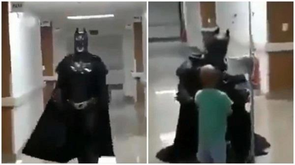 child with cancer doctor batman