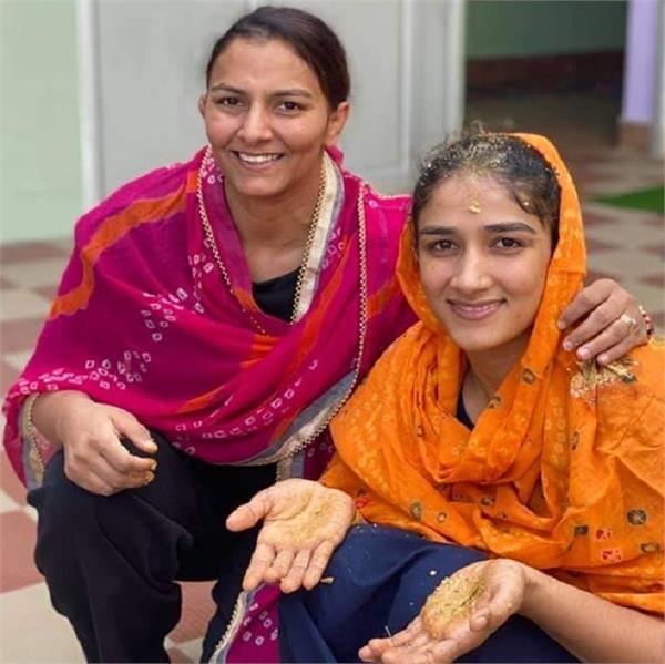 sangeeta phogat get married wrestler shares photos pre wedding function