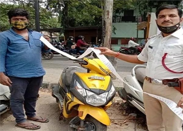 bengaluru  man fined rs 42 500 for 77 traffic rule violations