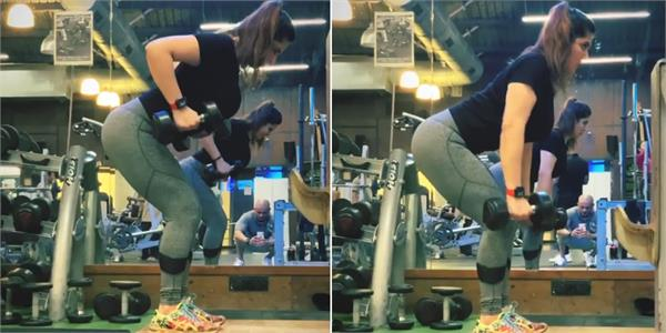 zareen khan workout video viral